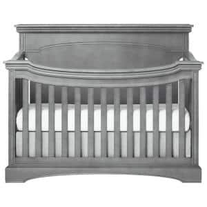 Catalina Storm Grey Flat Top Convertible Crib