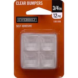 3/4 in. Self-Adhesive Vinyl Surface Bumpers (12 per Pack)