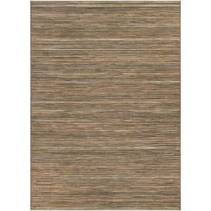 Cape Hinsdale Brown-Ivory 2 ft. x 4 ft. Indoor/Outdoor Area Rug