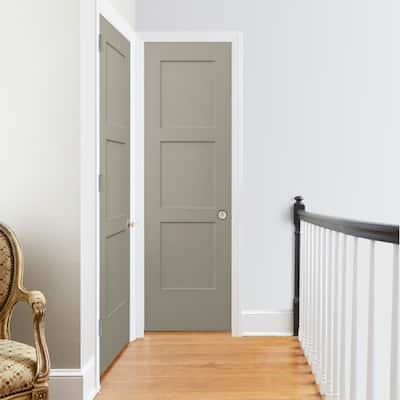 24 in. x 80 in. Birkdale Desert Sand Paint Smooth Solid Core Molded Composite Interior Door Slab
