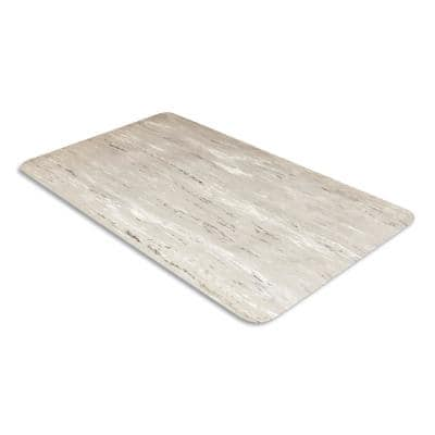 Cushion-Step Black 36 in. x 72 in. Marbleized Rubber Surface Commercial Floor Mat