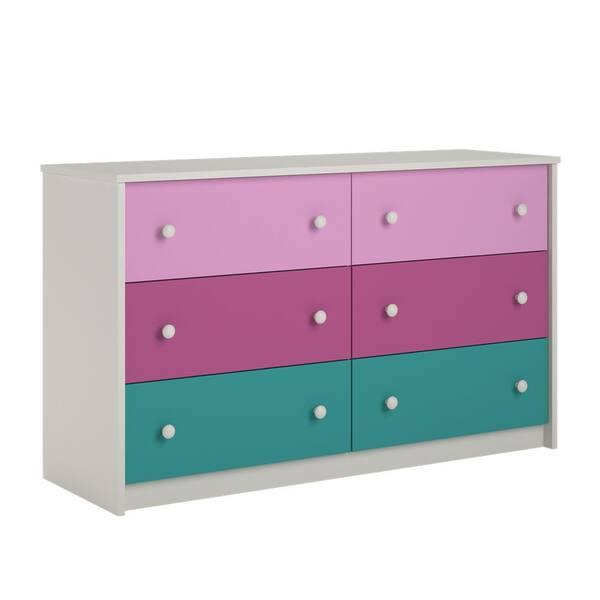 Ameriwood Valentine 6-Drawer Pink Dresser   The Home Depot