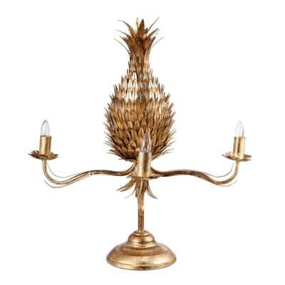 25.5 in. Pineapple Gold Table Lamp