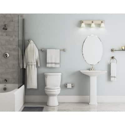 Belding Collection 4-Piece Bathroom Hardware Kit in Satin Nickel