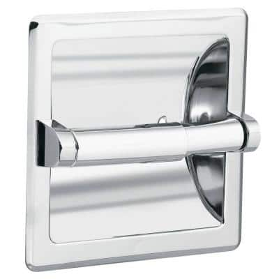 Donner Recessed Toilet Paper Holder and Clamp in Chrome