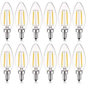 Luxrite 40 Watt Equivalent B10 Vintage Dimmable 400 Lumens Led Bulb 2700k Warm White 16 Pack Lr21572 16pk The Home Depot
