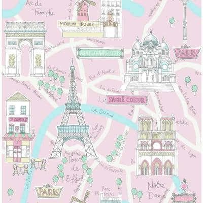 Bon Voyage Paper Strippable Roll (Covers 56 sq. ft.)