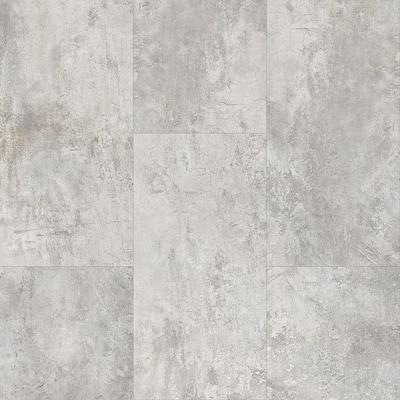 Telegrey Concrete 12 in. x 24 in. Luxury Vinyl Tile Peel And Stick Wall (18 sq. ft. / Case)