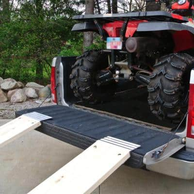 12 in. Aluminum Truck Loading Ramp Plate Kit (Includes 2 Ramp Plates)