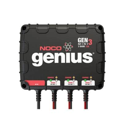 Genius GENM3 12 Amp 3-Bank On-Board Battery Charger