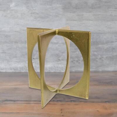 Brass Metal Geometric Sculptures