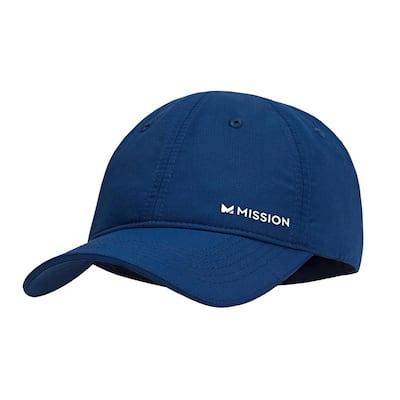 Hydro Active Unisex Navy/White Polyester Performance Baseball Hat