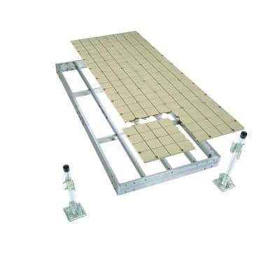 4 ft. x 10 ft. Aluminum Stationary Dock with Resin Top
