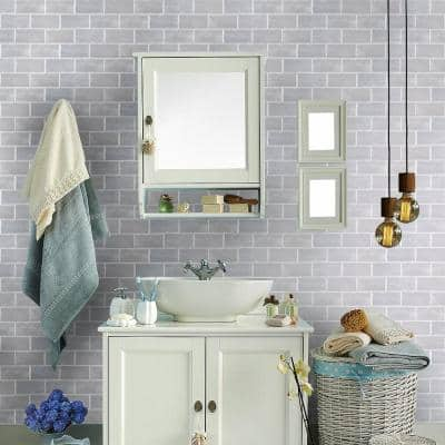 Simply Grey 3 in. x 6 in. Subway Gloss Textured Ceramic Wall Tile (10 sq. ft./Case)
