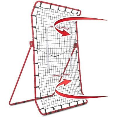 Pitch Back Baseball and Softball Rebounder Pro Practice Throwing Net