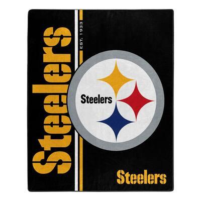 Steelers Structure Raschel Multi color Throw Blanket