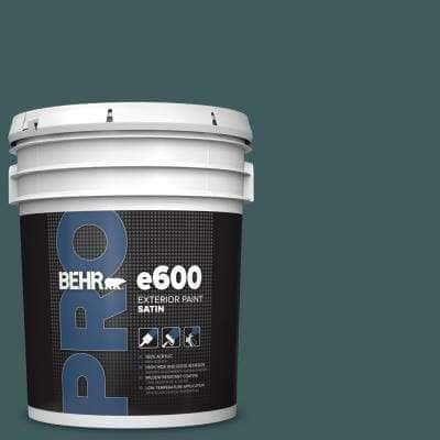 5 gal. #510F-7 Teal Forest Satin Exterior Paint