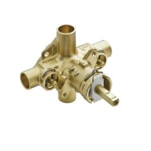 Brass Rough-In Posi-Temp Pressure-Balancing Cycling Tub and Shower Valve with Stops - 1/2 in. CC Connection