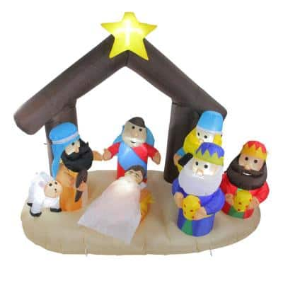 5.5 ft. Inflatable Nativity Scene Lighted Christmas Outdoor Decoration