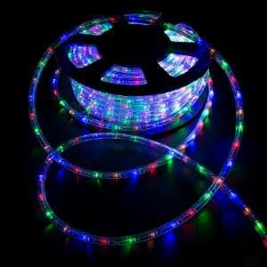 Outdoor 100 ft. 110-Volt Plug-In Multi-Color Color Changing Light LED Color Changing Lights Rope Light