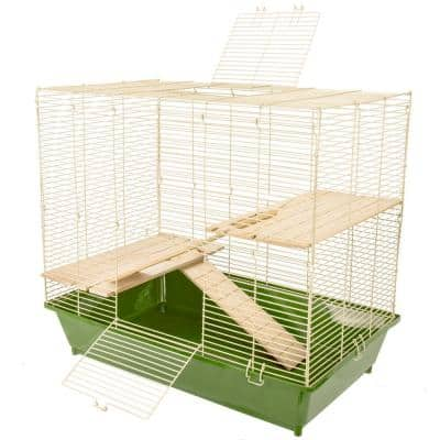 Natural's Chinchilla/Rat Cage with Wooden Shelves and Ramps - 29 in. x 17.5 in. x 25 in.