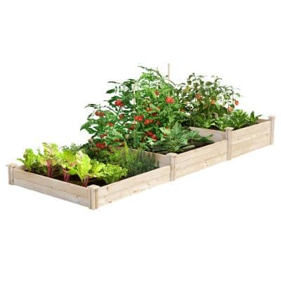 4 ft. x 12 ft. Stair-Step Original Pine Raised Garden Bed