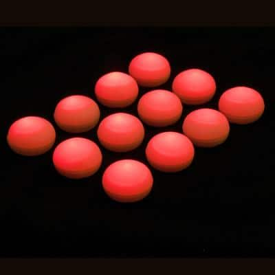 1.25 in. D x 0.875 in. H x 1.25 in. W Red Floating Blimp Lights (12-Count)