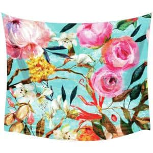 Oil Paint Floral Large Wall Tapestry