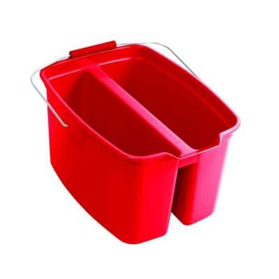 19 Qt. Red Plastic Double Bucket