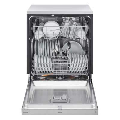 24 in. Stainless Steel Front Control Built-In Dishwasher with Stainless Steel Tub, Quadwash, Dynamic Dry, ADA, 48 dBA
