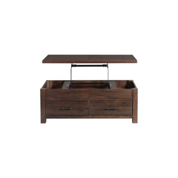 Dex 48 In. Walnut Large Rectangle Wood Coffee Table With Lift Top-TJX100CTLT  - The Home Depot