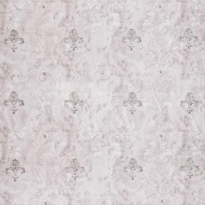 Fleur de Lis Grey, Charcoal Vinyl Strippable Roll (Covers 35.5 sq. ft.)