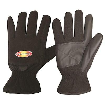 Small Black Heated Fleece Gloves