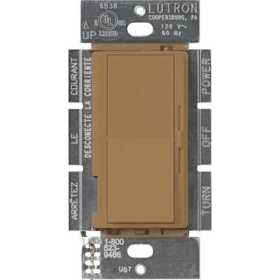 Diva 1.5 Amp Single-Pole/3-Way 3-Speed Fan Control, Terracotta