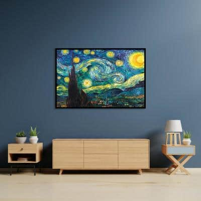 """""""Starry Night"""" by Vincent van Gogh Framed Canvas Wall Art"""