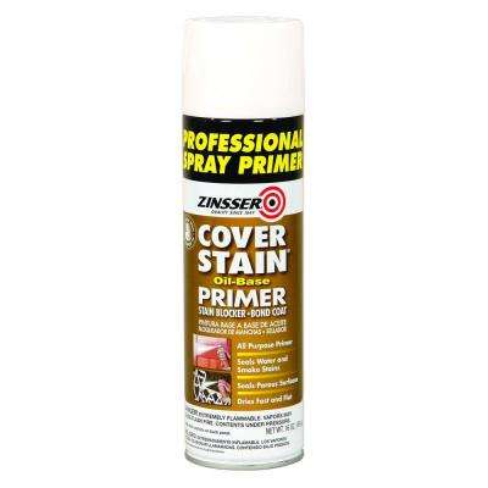 Cover Stain 16 oz. White Oil-Based Interior/Exterior Professional Primer and Sealer Spray (6-Pack)