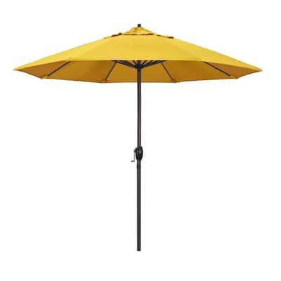 9 ft. Aluminum Auto Tilt Patio Umbrella in Lemon Olefin