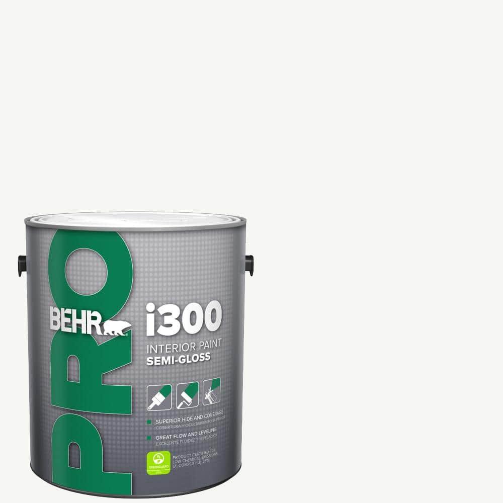 Behr Pro 1 Gal I300 White Semi Gloss Interior Paint Pr37001 The Home Depot