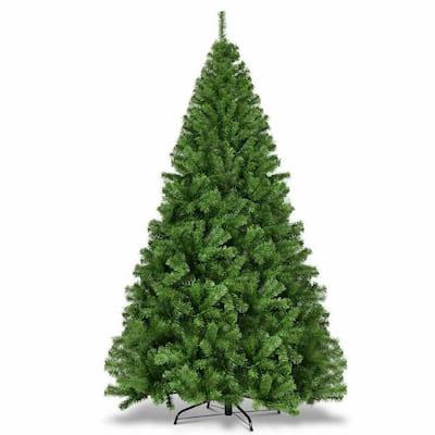 7.5 ft. PVC Artificial Unlit Christmas Tree 1346 Tips Premium Hinged with Metal Leg