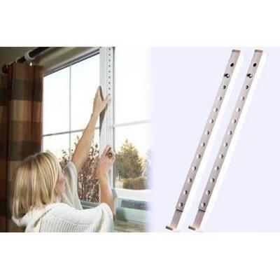 30 in. High-Impact Plastic White Security Burglar Bar and Secondary Window Lock (2-Pack)