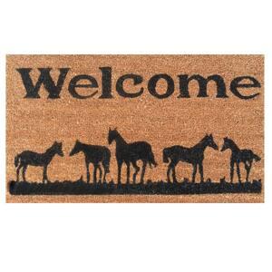 Horses Welcome 24 in. x 36 in. Door Mat