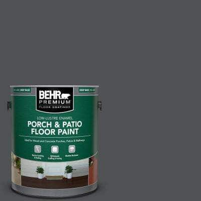 1 gal. #PPU18-01 Cracked Pepper Low-Lustre Enamel Interior/Exterior Porch and Patio Floor Paint
