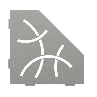 Shelf-E Stone Grey Coated Aluminum Curve Pentagon Corner Shelf