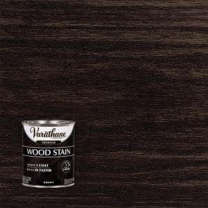 1 qt. Ebony Premium Fast Dry Interior Wood Stain (2-Pack)