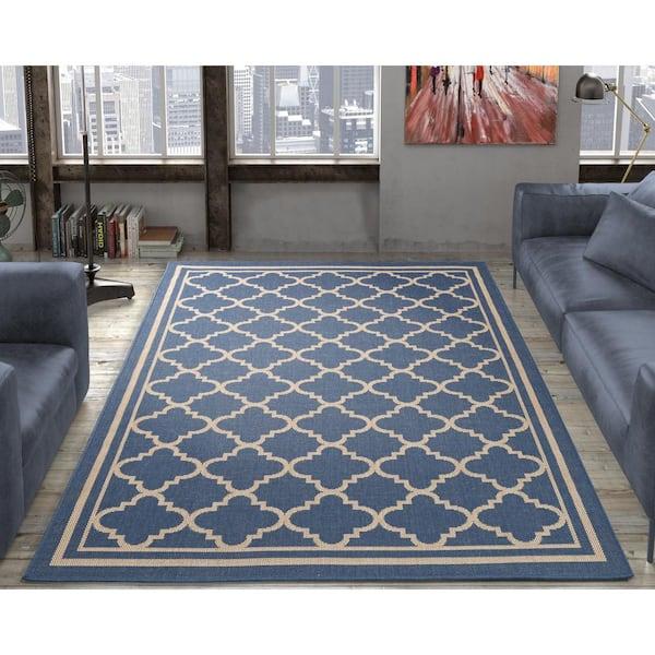 Ottomanson Jardin Collection Moroccan, Outdoor Trellis Rug