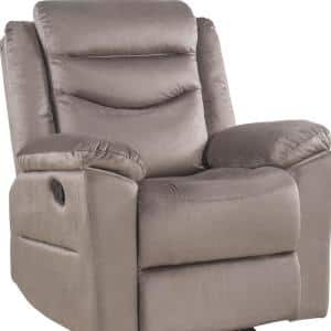 Fiacre Brown Velvet Glider Recliner