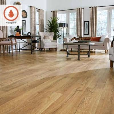 Outlast+ 7.48 in. W Marigold Oak Waterproof Laminate Wood Flooring (19.63 sq. ft./case)