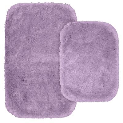 Finest Luxury Purple 2-Piece Washable Bathroom Rug Set