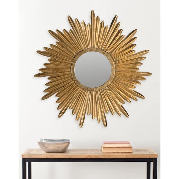Safavieh Josephine Round Antique Gold, Round Sunburst Mirror