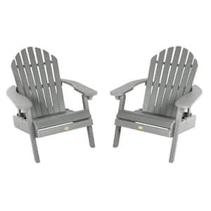 Hamilton Coastal Teak Folding and Reclining Plastic Adirondack Chair (2-Pack)